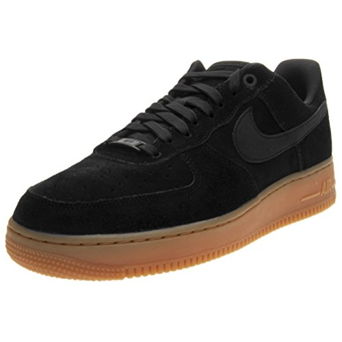 Nike Air Force 1 '07 Lv8 Suede, Zapatillas de Gimnasia para Hombre, Negro (Black/Black/Gum Med Brown/Ivory), 41 EU