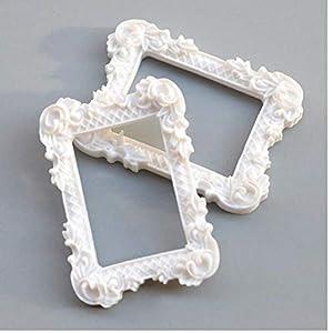 Zonster 2ST Bilderrahmen Möbel Bild Resin Mini Home Decor Gemälde Anzeigen Album Puppenstuben Crafts Miniatur-Kunst-Geschenk-Bild