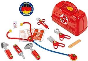 Theo Klein-4457 Maletin médico con numerosos accesorios, juguete, multicolor (THEOK 4457)