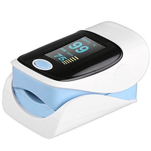 Fingertip Pulsoximeter Herzfrequenz Monitor SPO2 Blut Rate Sauerstoff Monitor mit 4 Richtungen Display/Low Power-Anzeige mit großen LED Display für Kinder Erwachsene Damen Herren
