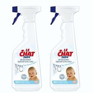 Le Chat - Bébé Spray Détachant - 500 ml - Lot de 2