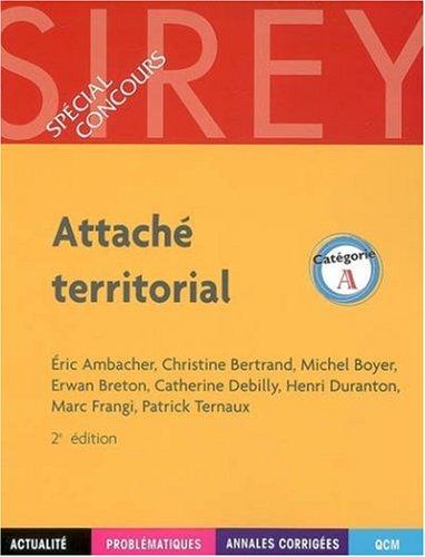 Attaché territorial : Catégorie A