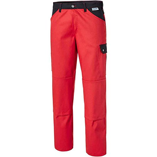 Pionier 2469–121,9cm Top comfort stretch pantaloni da lavoro, colore: Rosso/Nero, taglia 48