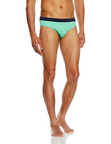 Tommy Hilfiger Flag Swim Brief, Maillot de Bain Homme Vert