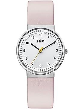 Braun Damen-Armbanduhr BN0031WHLPKL Analog Quarz Leder BN0031WHLPKL