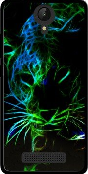 Coque Archos 50 Platinum 4g en silicone avec design Abstract neon Leopard - Coque souple Archos 50 Platinum 4g Anti-Choc - Protection Mobilinnov Incassable