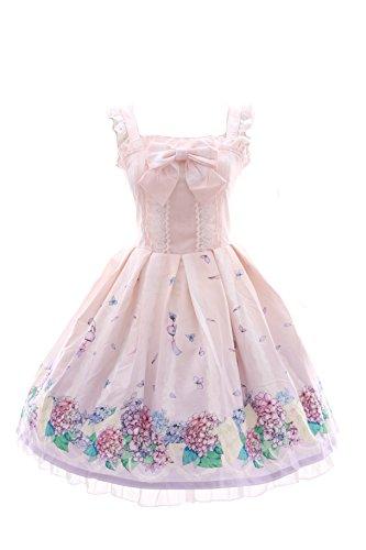 JSK-01 Hortensie rosa rosé Blumen Pastel Gothic Lolita Kleid Stretch dress Cosplay Kawaii-Story (Toy Story Toy Brust)