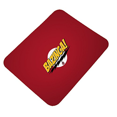 Clapcart Bazinga! Design Printed Rubber Base Mat finish Mouse Pad For PC / Laptop - Multicolor