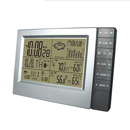 TMY Innen- und Außenwetteruhr Funk-Thermometer und Hygrometer-Funkuhr Wetterstation Forecaster (Größe : 20 * 3 * 13cm)