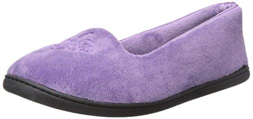 Dearfoams , Chaussons pour femme One Size Smokey Purple