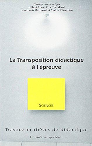 La transposition didactique à l'épreuve
