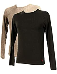 6ddbe6f61884 Ralph Lauren - Polo Pack 2 T-Shirts-Top Manches Longues Hommes Gris et