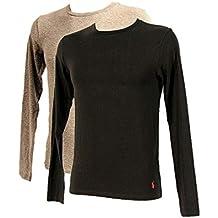 Ralph Lauren - Polo Pack 2 T-Shirts-Top Manches Longues Hommes Gris et ac89247a020