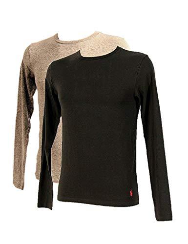 Ralph Lauren Longsleeve 2er Pack Jersey Knit BLACK/ANDOVER SH17-RLL1 Size XXL