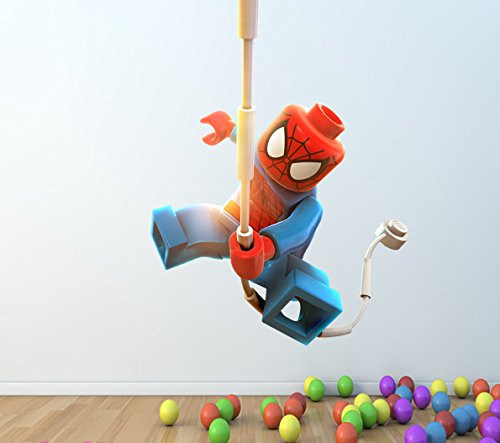 LEGO SPIDERMAN FULL COLOUR WALL STICKER   GIRLS BOYS BEDROOM C214 Size:  Large: Amazon.co.uk: Kitchen U0026 Home