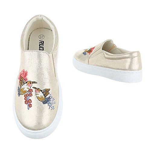 Italiana Ouro Chinelo Design Femininos De Sapatos top Sapatos Baixo Baixos Moderno w8FBxHWXq