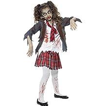 Infantil Zombie Niña Escuela Disfraz Halloween Edad 7A 9y 10A 12
