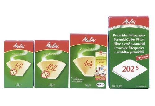 Melitta Kaffeefiltertüten, 100 Stück, weiß (1 Packung)