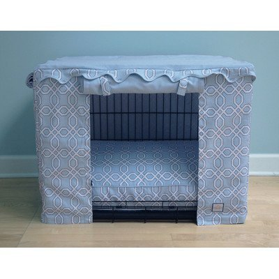 BowhausNYC Moroccan Trellis Crate Cover, Light Blue, Small by BowhausNYC Blue Trellis