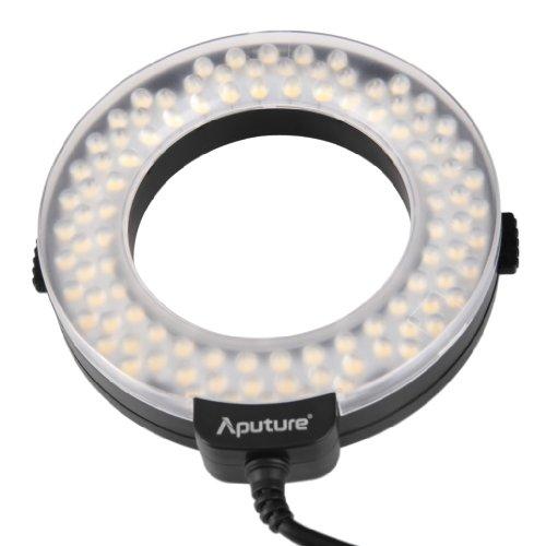 New Aputure Amaran AHL-HN100 LED Ringblitz Ring Flash light CRI 95+ für Nikon D610 D4 D3X D3S D800 D300S D7100 D90 D5200 D3200 D3000 D700
