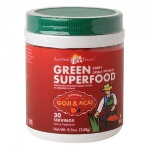 Green Superfood Drink Powder - 210-240g - Goji & Acai by Amazing Grass