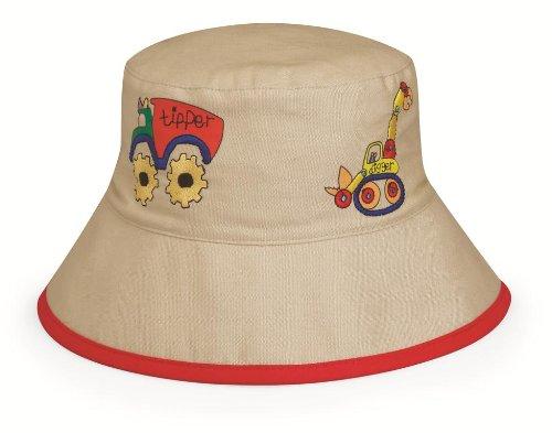 Wallaroo Hats Jungen UV Schutz Sonnenhut Digger, beige, 52 cm, DIG-12 (Digger Mütze)