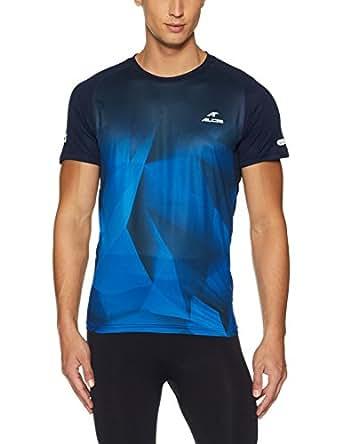 ALCiS Men's Round Neck T-Shirt (8904237802104ALRSS56TBN_M_Neon Blue)