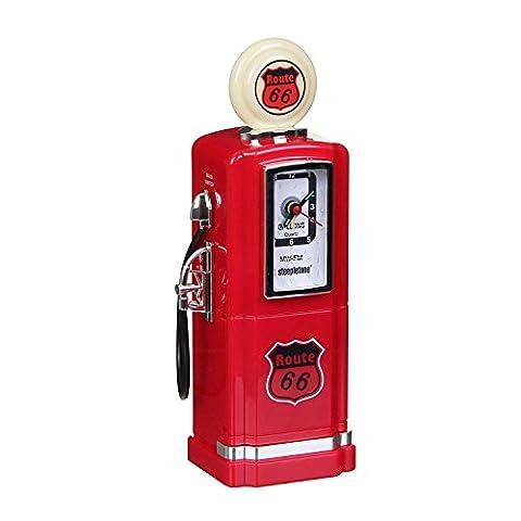 Steepletone - Analogique Réveil de la Radio - Pompe à Gaz de Style 50 - Rouge
