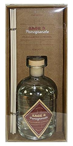 Vintage Chemist Bottle Style Fragrant Diffuser - Sage and Pomegranate Scent