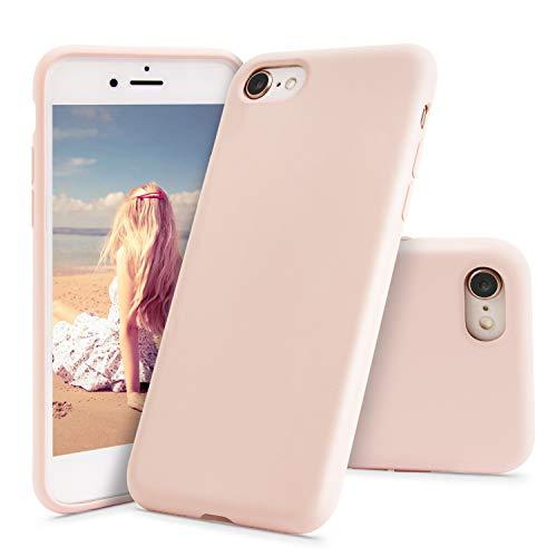 Imikoko® Hülle für iPhone 7 Hülle, iPhone 8 Hülle Matt Silikon Handyhülle Schutzhülle Bumper Case Schutz vor Stoßfest/Scratch Kratzfest Cover mit Soft Microfaser Tuch Futter Kissen