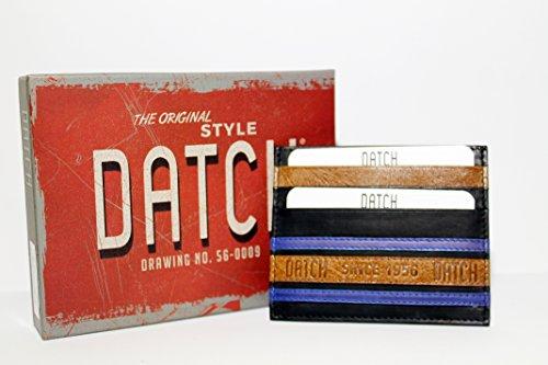 DATCH Porta carte di credito UOMO in vera pelle colore NERO sottile