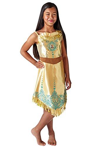 Rubie 's 640730M Disney Princess Pocahontas Gem Kostüm, Mädchen, mittel (Kostüm Pocahontas Kind)