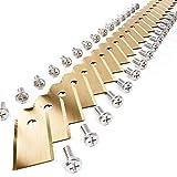 Plemont ® [30er Set] Titan Husqvarna Automower Messer - Universal Ersatzklingen für viele Husqvarna ® Mähroboter & Gardena ® - Rasenroboter Ersatzmesser - Ersatzeile/Zubehör für Rasenmäher Roboter