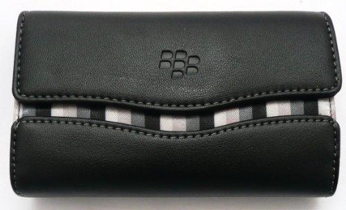 Original Blackberry Leder Folio Bei Weißem Stitch In Großpackungen Geeignet Für Blackberry 8520 Curve / 9300 Curve 3G