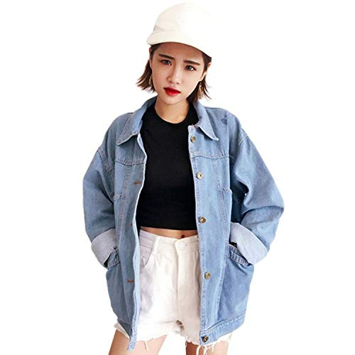 23ff8c08f67 Autumn Women Loose Basic Coats Female Jeans Coat Feminino Slim Denim Jacket  Oversize Bomber Streetwear,