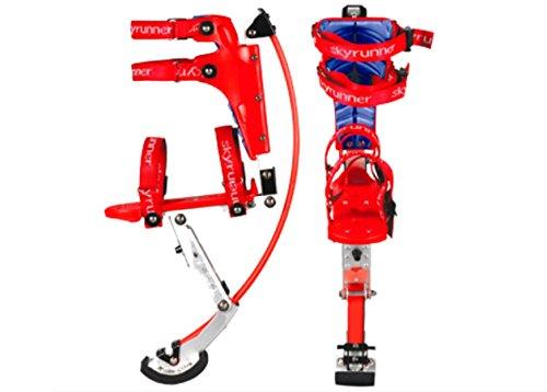 Kangourou Chaussures Pogo Pilotis pour Enfant Enfant Youth Poids Charge Gamme 20–40 kg Rouge