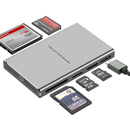 KAMETA Lettore di Schede USB 3.0 Esterno 5 in 1 Memoria Super...