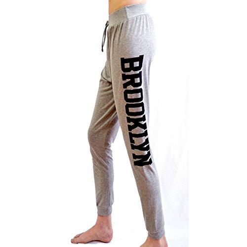 Femme Imprimé Brooklyn Sport Pantalon de survêtement femme Pantalon de Jogging Gris - Gris