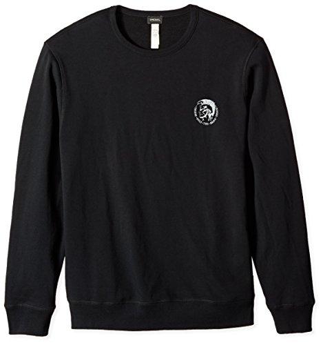 Diesel Herren Umlt-Willy Sweatshirt, Schwarz (Black 900-0cand), Small Plain Sweatshirt Herren