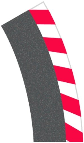 Carrera - Borde Exterior Curva peraltada 1/30°, 6 Piezas y terminales, 2 Piezas (20020564)