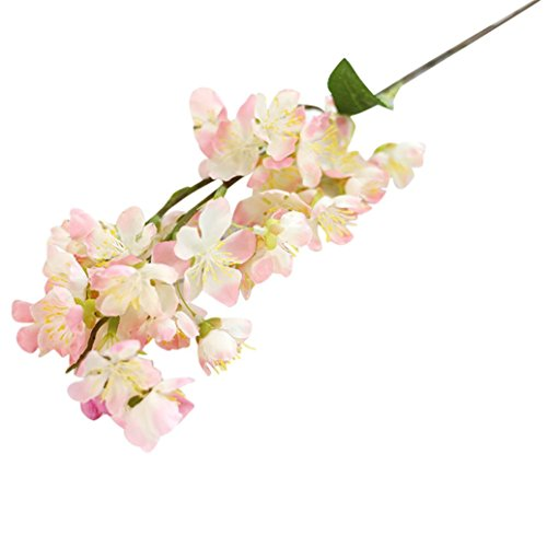 Coloré(TM) Les Fleurs de Cerisier Artificielle de Feuilles. Décor Floral le Bouquet de Fleurs Fête de Mariage (Rose)