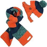 Autunno inverno caldo ispessimento Knitting due pezzo cappello sciarpa per bambini , 3