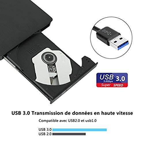 Lector Externo de CD de USB 3.0 Súper-Silm