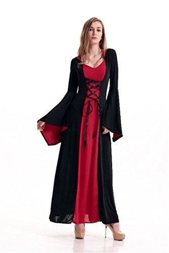 Red Hip Hop Kostüm - HAOBAO Halloween-Hexe Kostüm Erwachsene Cosplay Kleidung Kleid Mesh-Rock, red