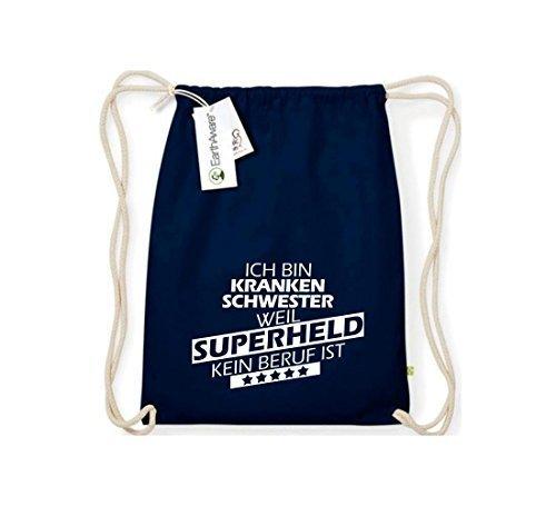 Shirtstown Organico Gymsac Sono Infermiera, perché Super eroe niente Occupazione è - rosso, One Size blu
