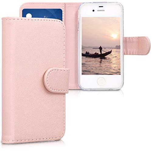 kwmobile Apple iPhone 4 / 4S Hülle - Kunstleder Wallet Case für Apple iPhone 4 / 4S mit Kartenfächern und Stand -