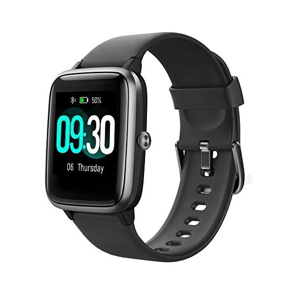 Willful Smartwatch,Reloj Inteligente con Pulsómetro,Cronómetros,Calorías,Monitor de Sueño,Podómetro Monitores de… 1