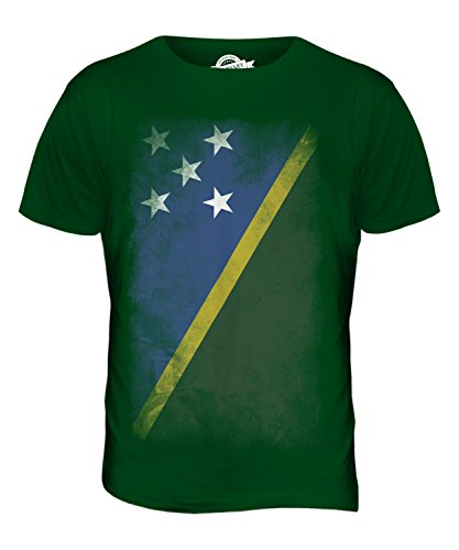CandyMix Salomonen Verblichen Flagge Herren T Shirt Flaschengrün