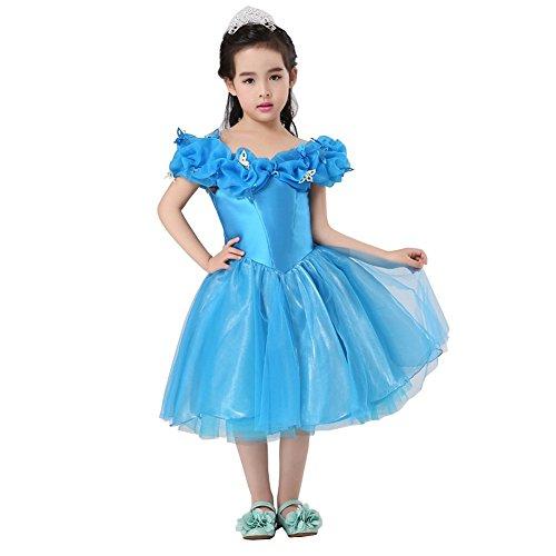 Preisvergleich Produktbild Mädchen Prinzessin Aschenputtel Schmetterlinge Maxi Kleid