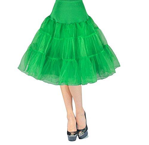 Babyonlinedress Damen Organza Petticoat Reifrock Unterrock 50s Vintage Rockabilly TuTu Kleid in 15 Farben